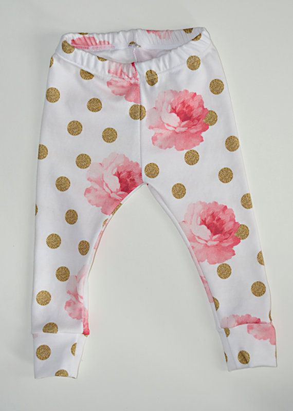 baby girl leggings organic cotton leggings by LittleBeansBabyShop