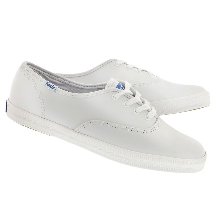 Keds Women's CHAMPION OXFORD white leather sneakers WH45750