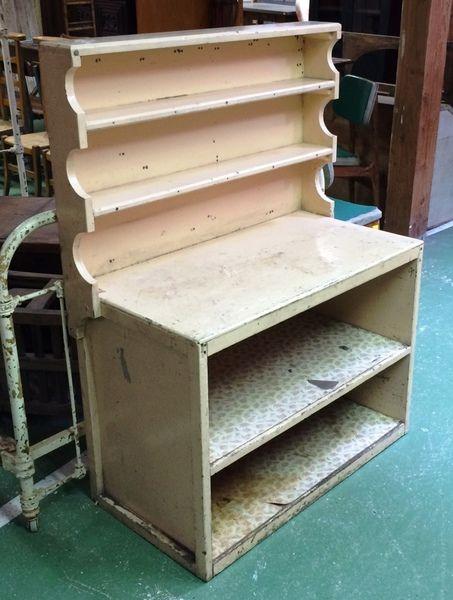 petit vaisselier en peinture ann es 50 h 1m13 l 90cm p 48cm au vieux chaudron antiquit s. Black Bedroom Furniture Sets. Home Design Ideas