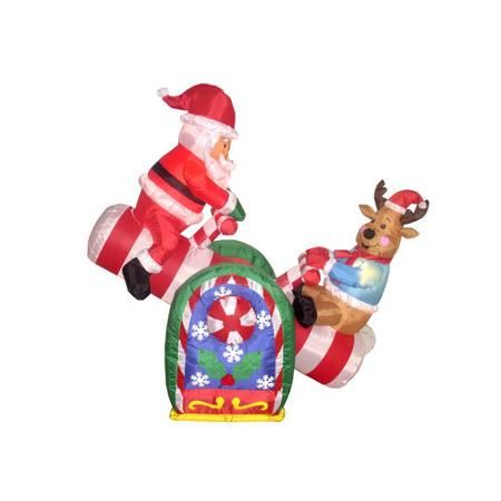 best bzb goods christmas inflatables animated santa reindeer teeter totter decoration walmartcom with walmart outdoor christmas decorations - Walmart Christmas Lawn Decorations