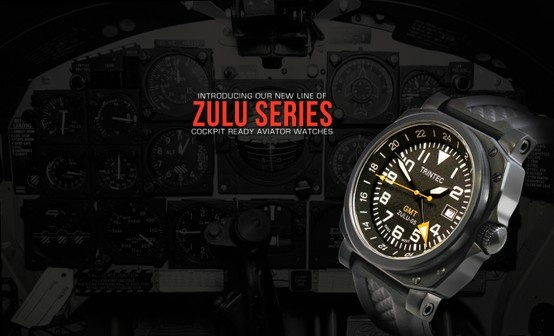 the ZULU-05 GMT ...Comfortable in a cockpit or cocktail party!