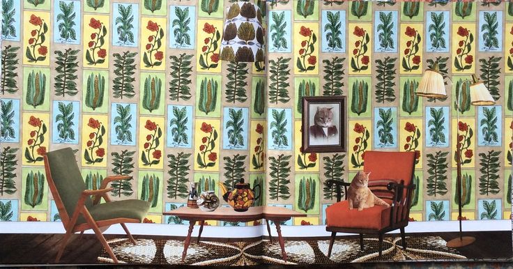 Wallpaper Book. The Year is 1951. Coloured by Prue