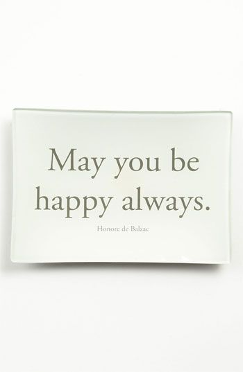 Ben's Garden 'Be Happy Always' Trinket Tray available at #Nordstrom