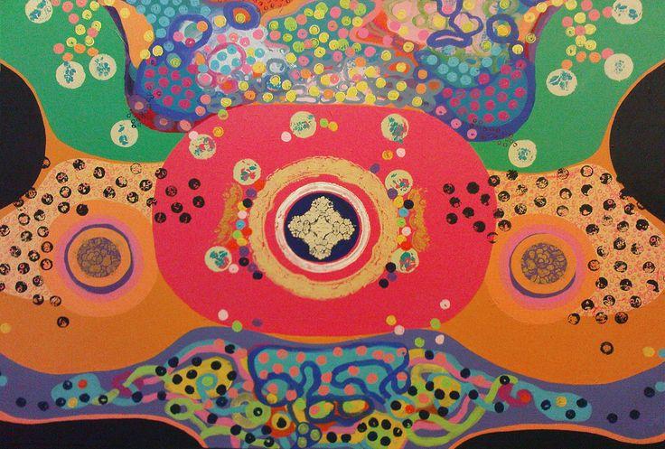 Nasrin CHARKHAT - Battle - 120 * 80 cm - Acrylic on canvas - March  2016
