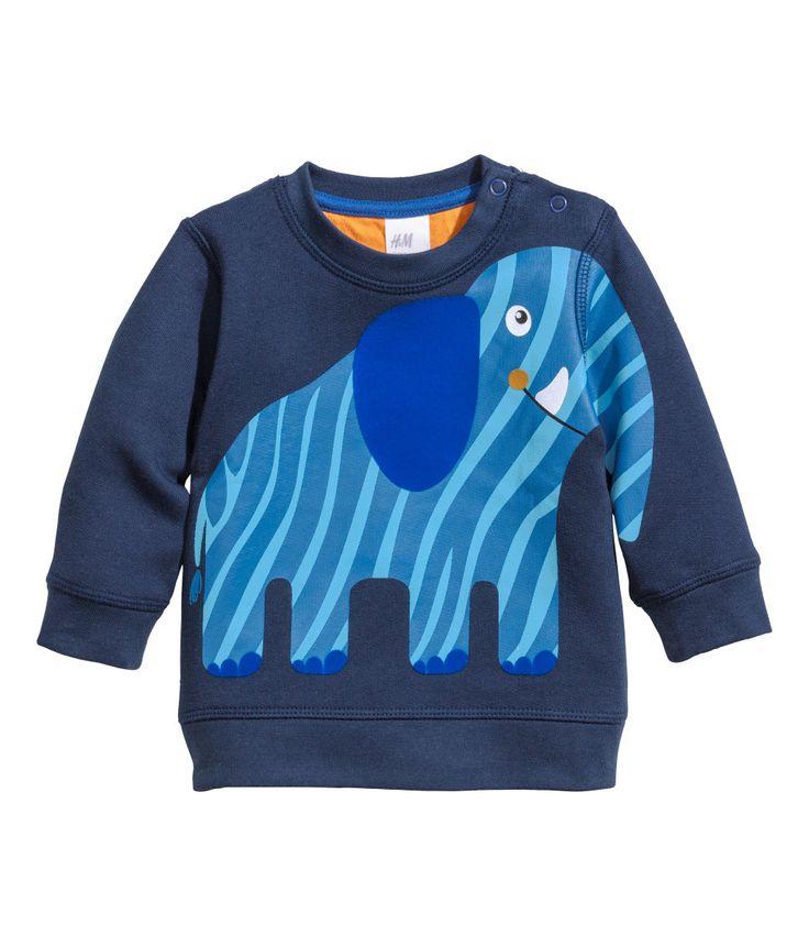 h m baby boy elephant print sweatshirt kids pinterest. Black Bedroom Furniture Sets. Home Design Ideas