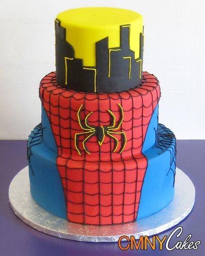 Spider-Man 3 Cake | Tier Spiderman On Rooftop Cake