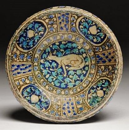 Coupe au quadrupède, Sultanabad, art Ilkhanide, 13e-14e siècles.