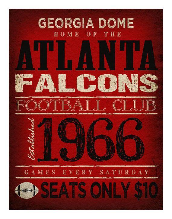 Atlanta Falcons Print   11x14  Georgia Dome Poster by TheLemonPeel, $22.00
