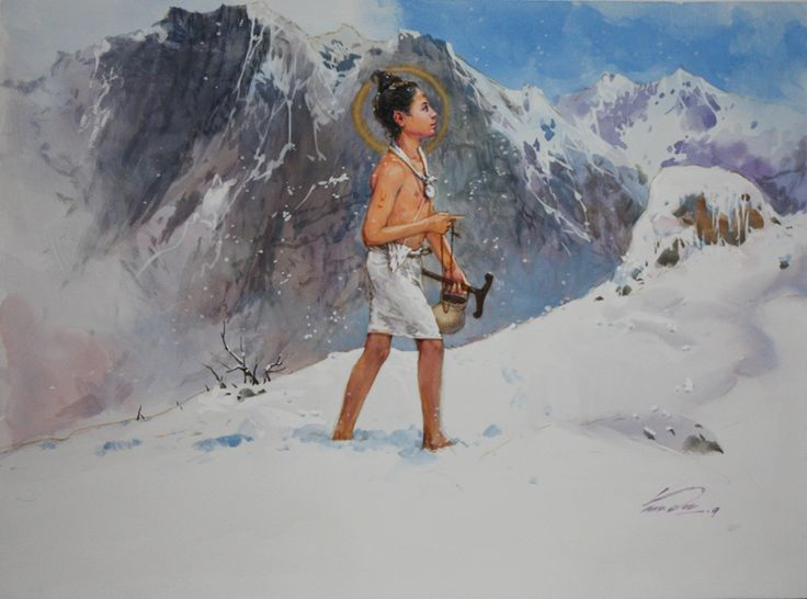 Nilkanth Vami by Vasudeo Kamath An Internationally acclaimed artist of India