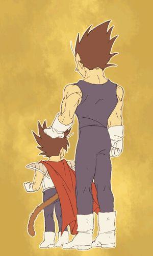 i wish bulma and vegeta had a third kid and was a mini vegeta like goten is a mini goku. siiiigh.