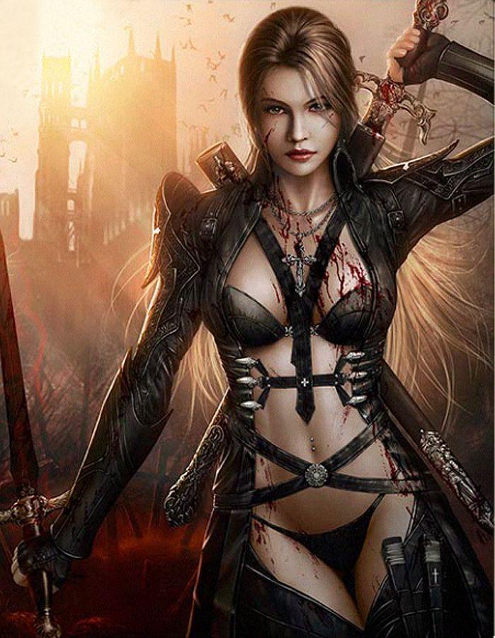 Erotic woman warrior fantasy art wijf. YES!!