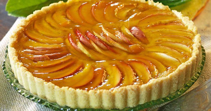Recept fransk äppeltarte med mandel