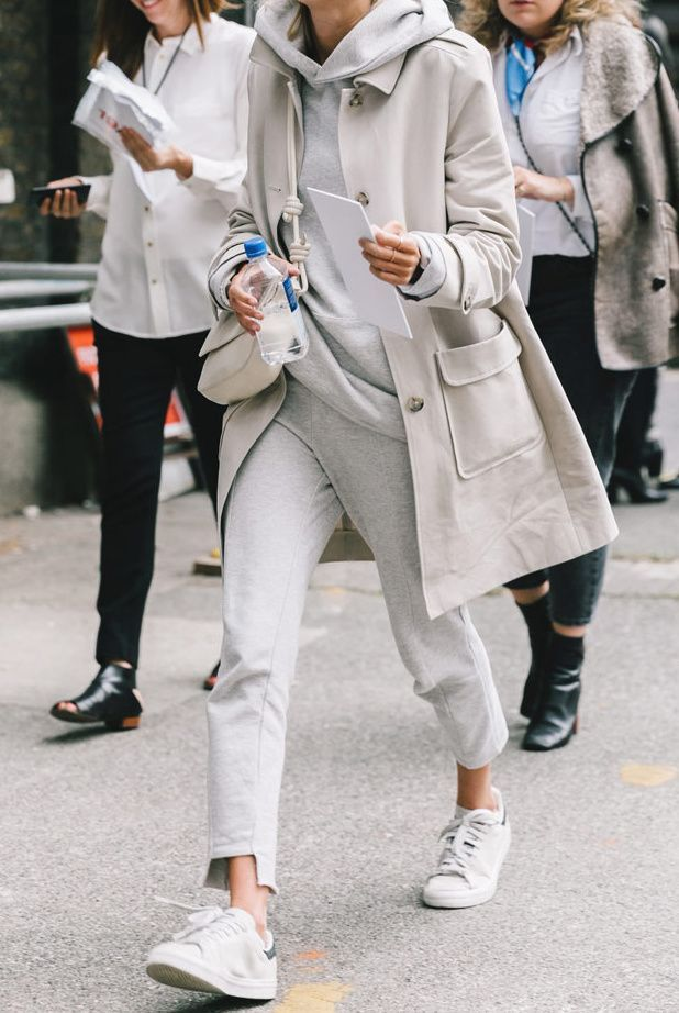Beige / Grey / White Fall outfit