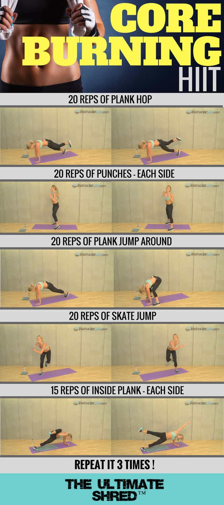 Let's burn that core. Join us and get free workout plan here!