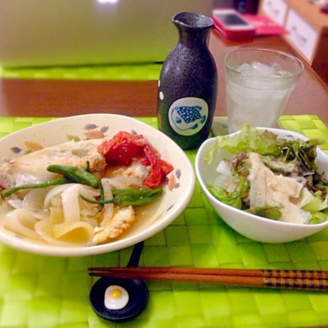 今晩の深夜の晩餐 シニガン ナ イスダ【フィリピン風 魚の酸味スープ】 サラダ 日本酒ロックwith檸檬+ - 52件のもぐもぐ - シニガン ナ イスダ by manilalaki