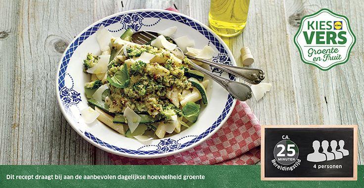 Recept voor pasta met broccolipesto #Lidl #Broccoli