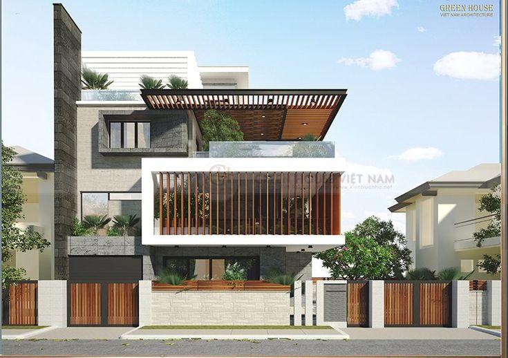 Thiết kế biệt thự hiện đại trong lòng thành phố, không gian xanh mang nhiều sức sống. Phong cách thiết kế hiện đại, thoáng đãng, đa chức năng