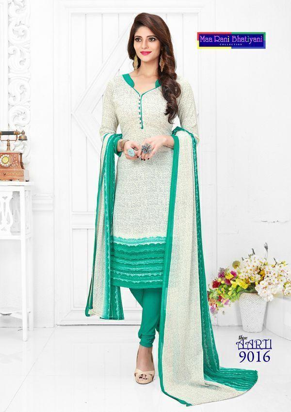 Salwar Kameez Unstitched Printed Punjabi Suit Indian Pakistani Synthetic Ethnic