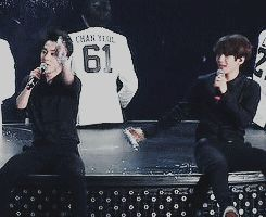 another example of xiumin's constant 'fight me' mode when he is with baekhyun XD