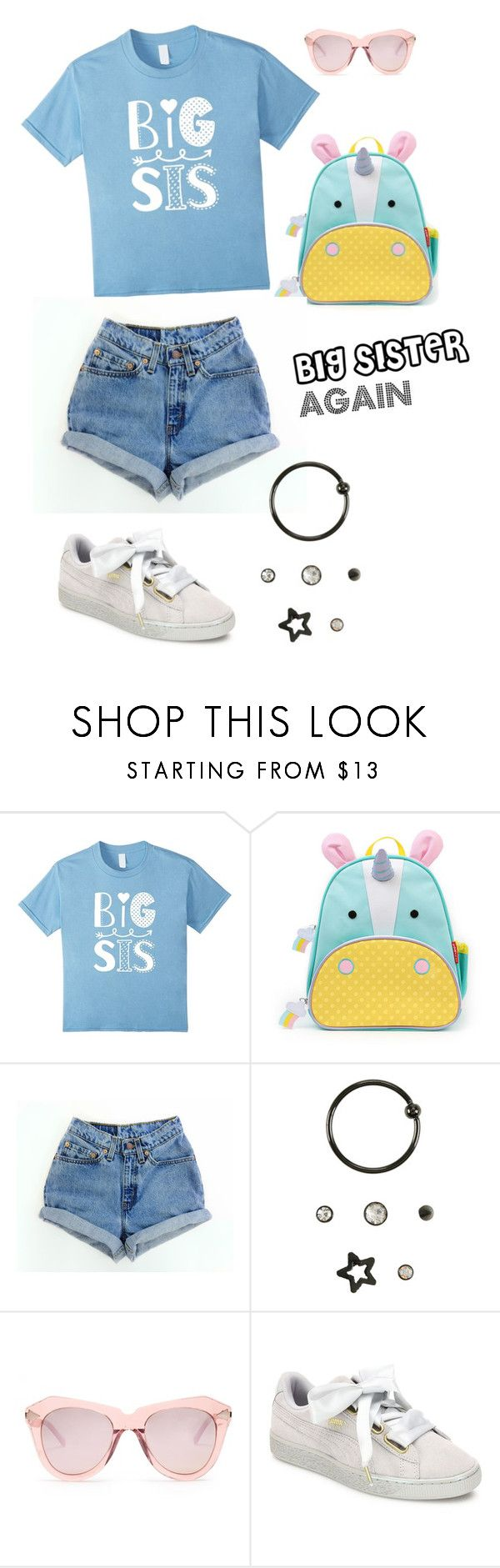 Big Sister Again by familymily on Polyvore featuring Levi's, Puma, Karen Walker and fashionset