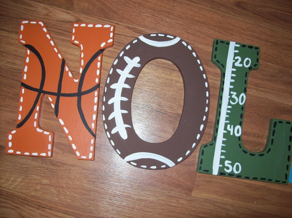 original sport letter custom sport letters sports fan wooden letters customized football baseball soccer basketball hand painted letters