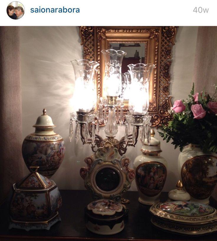 Decoração porcelana louça lustre mesa