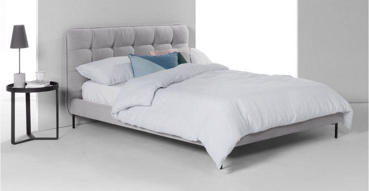 Tilda Polsterbett (140 x 200 cm), Jetgrau ► Für mehr Abwechslung im Schlafzimmer! Entdecke jetzt moderne Betten bei MADE.