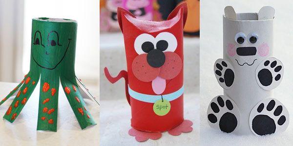 Creare dei simpatici segnaposto o animaletti riciclando i rotoli di carta, tante idee per riutilizzare i rotoli di carta igienica e scottex