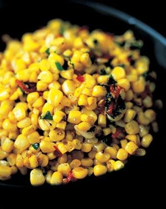 Jamie's corn with chili, ginger, garlic and parsley: Side Dishes, Garlic, Food, Veggie, Stir Fried Corn, Vegetarian Recipes
