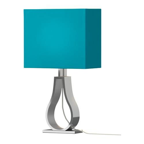 New IKEA KLABB Table lamp Turquoise You can create a soft cosy atmosphere in your home with a textile shade that spreads a diffused and decorative light