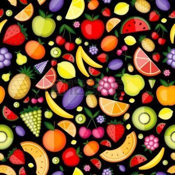 Frutas patr�n transparente para su dise�o photo