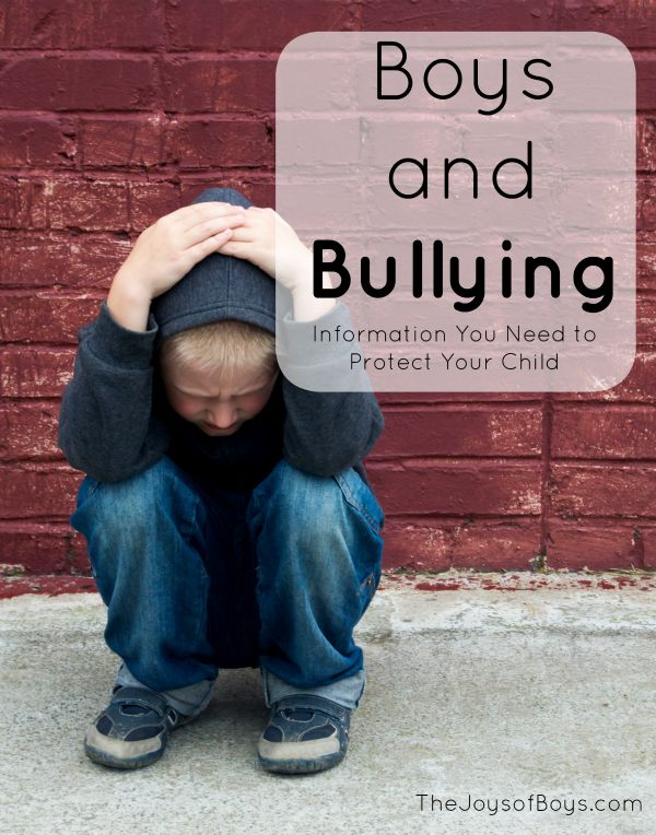Boys and Bullying - 1 in 4 kids are bullied everyday. Learn how to protect your kids from it with these simple tips!