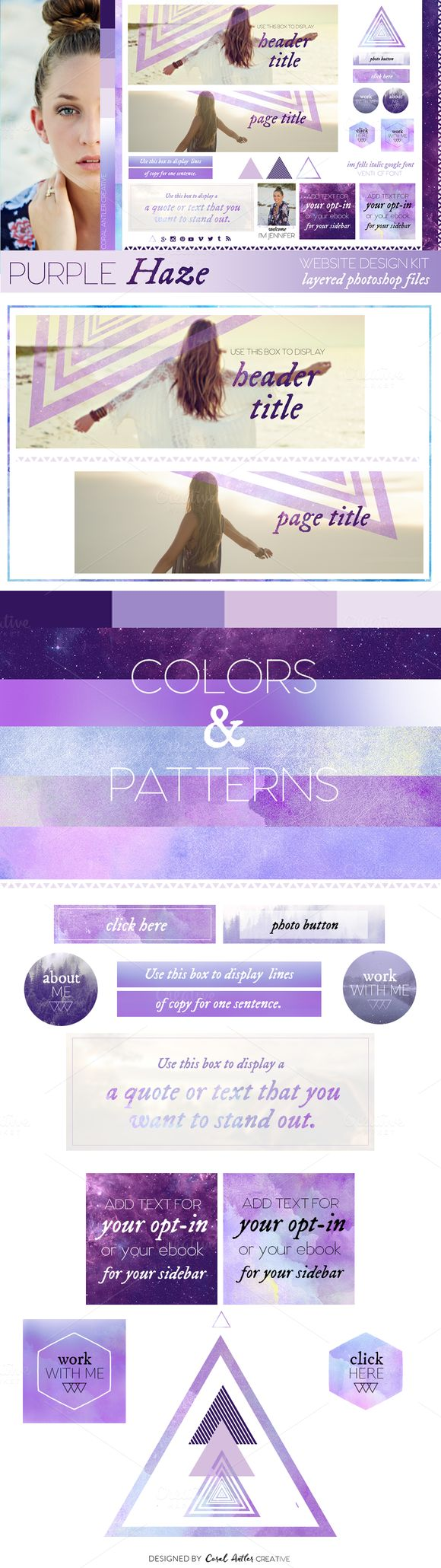 CLICK ON IMAGE AND SCROLL DOWN FOR DETAILS This premade graphics kit is great for all you DIYers that need a professional touch on your website or blog. This is a great cost effective