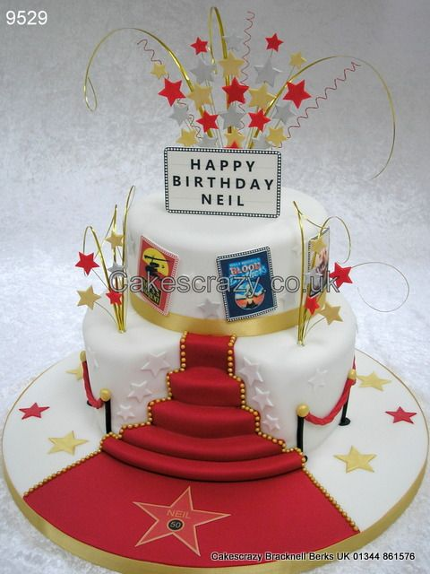 Hollywood Movies Cake  http://www.cakescrazy.co.uk/details/hollywood-movies-and-red-carpet-cake-9529.html