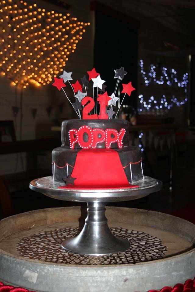 Red caper cake
