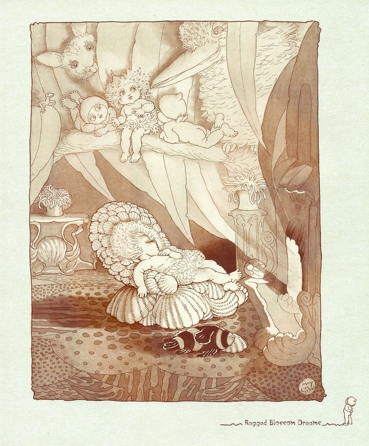 Ragged Blossom Dreams  - Gumnut Babies by May Gibbs.