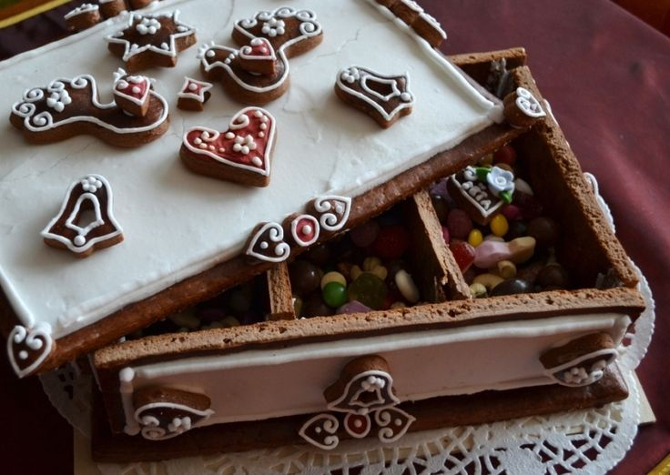 St. Nicholas´s Candy Treasure Czech Gingerbread Chest