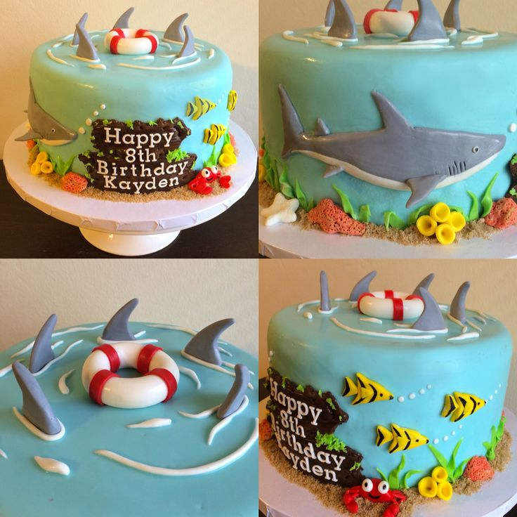 """Sharks"" birthday cake"