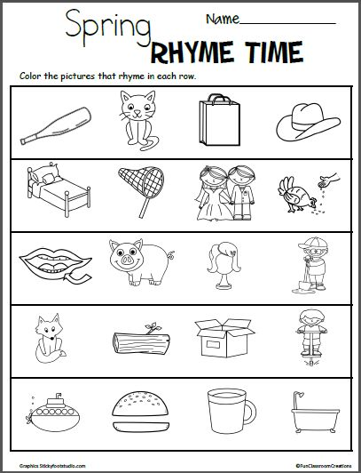 Pin by discosushi x on Win in 2020 | Rhyming worksheet ...