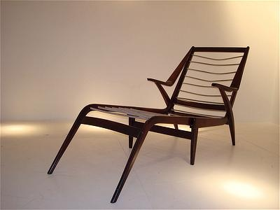 Guglielmo ulrich long chair italy 1950 lacquered birch and for Sharon goldreich