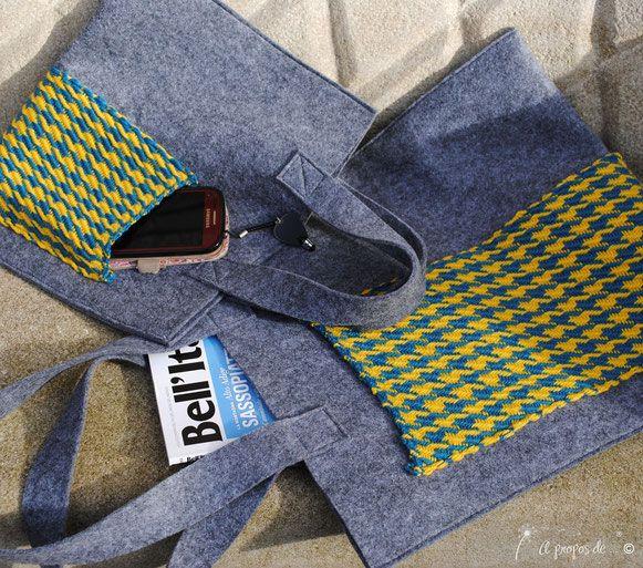 Beautiful handmade felt-weaving bags by Atelier Faggi Italy - #weaving #weaving-techniques #handweaving #felt #bag #atelierfaggi