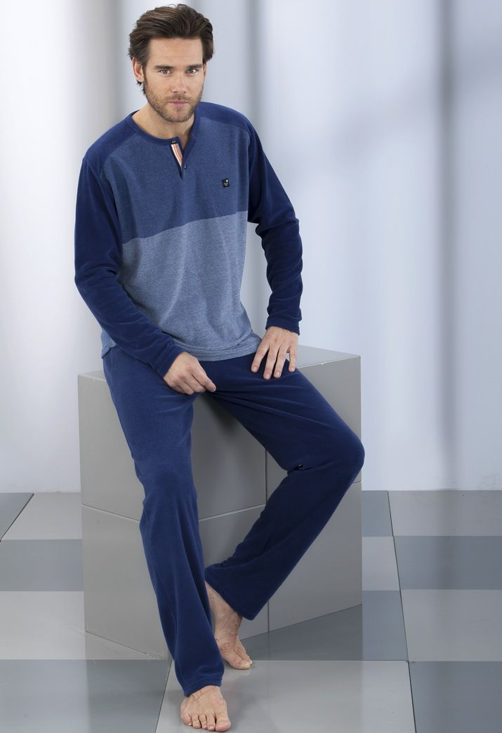 Pijama hombre en terciopelo Massana
