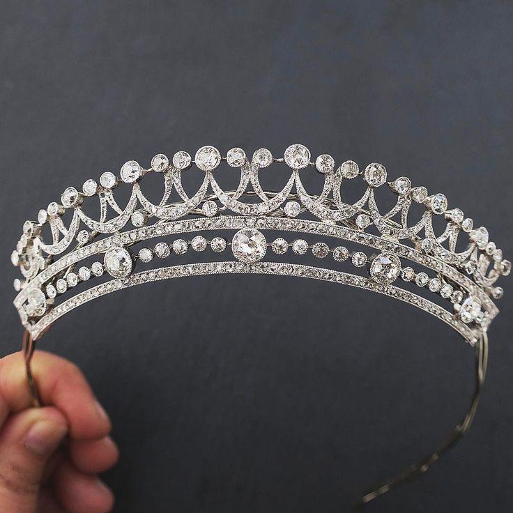 Edwardian Diamond Tiara in Platinum
