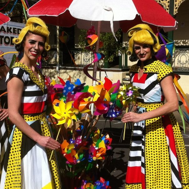 Pop Art girls @ Mary Poppins festival Maryborough Qld where P L Travers was born celebrating everything Mary Poppins & more..........