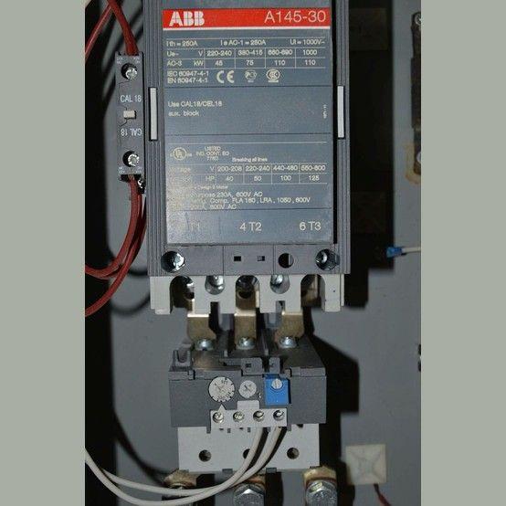 Model: AF145-30. Max. voltage: 600.  3 phase.   100-123 amp overload block 40 HP @ 200-208V. 50 HP @ 220-240V. 100 HP @ 440-480V. 125 HP @ 550-600V. Electrical can dimensions (L x W x...