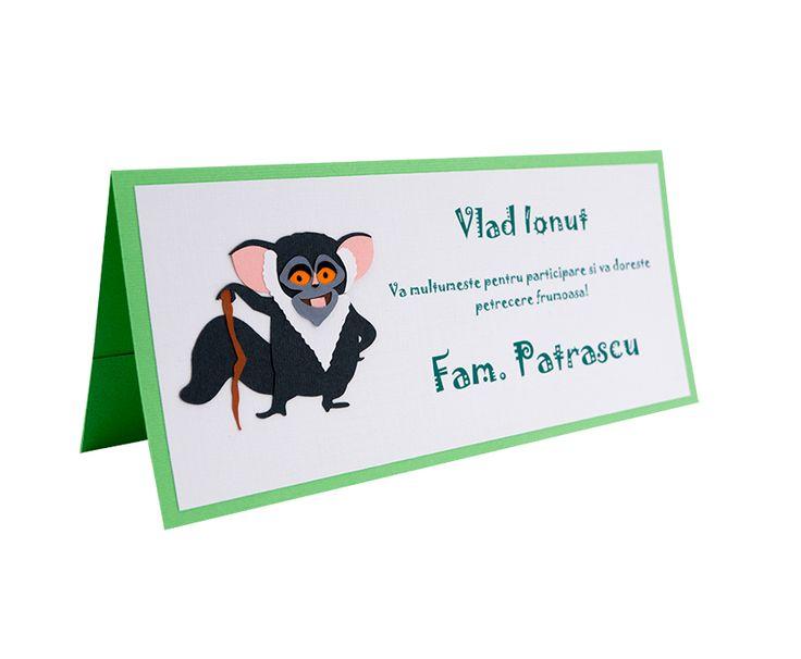 Place Card Botez Madagascar - Maurice
