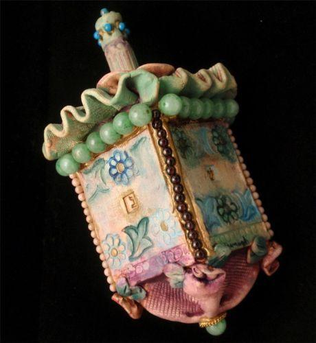 Dreidel Ornate Beaded Ceramic Colroful Chanukah Hannukah | eBay