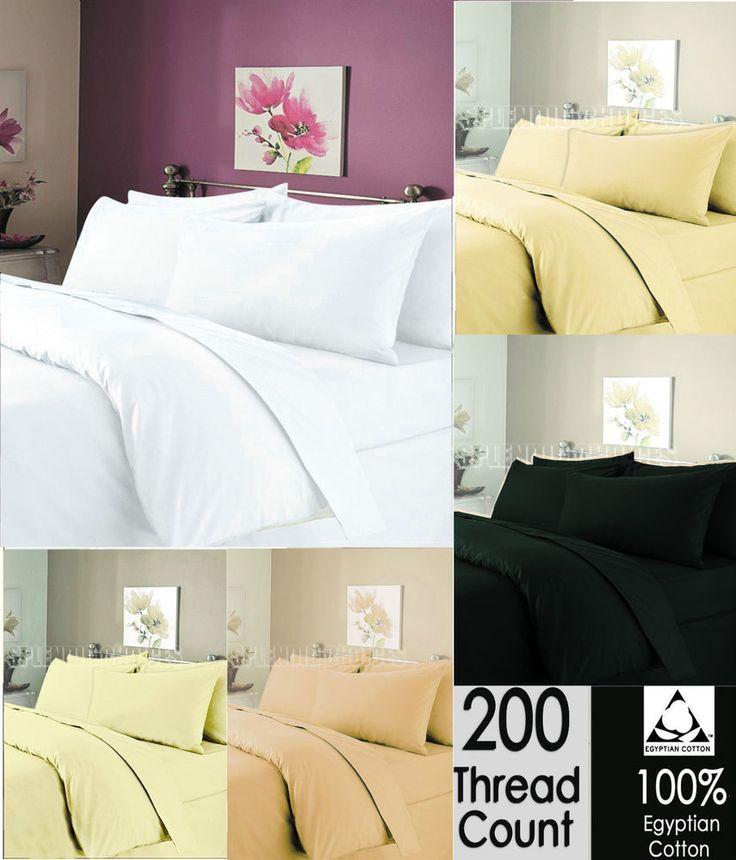 Luxury 100% Egyptian Cotton Duvet Quilt Cover & Pillowcase Bedding Set All Sizes #Sunshine #Traditional