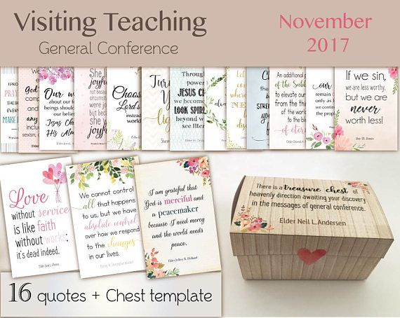 November 2017 Visiting Teaching Message lds Printable