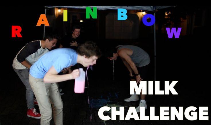 Rainbow Milk Challenge